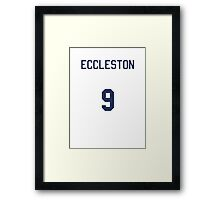 Doctor Who Sports Shirt- ECCLESTON Framed Print