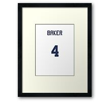 Doctor Who Sports Shirt- BAKER (Tom/4th Doctor) Framed Print