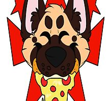 Pizza King GShep by dogbarf