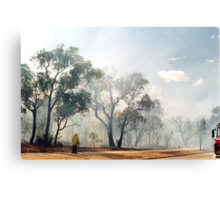 Fire, Perth, Western Australia Canvas Print