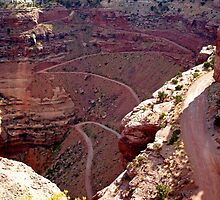 """white-knuckle road"", Utah by Margaret  Hyde"