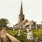 A digital painting of  St Mary's Church, Lydney, England. by Dennis Melling