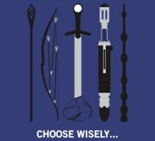 Choose Wisely! (White Text) T-Shirt
