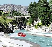 The Shotover River by Ira Mitchell-Kirk by Ira Mitchell-Kirk