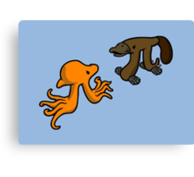 Octopi VS Platypi Canvas Print