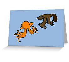 Octopi VS Platypi Greeting Card