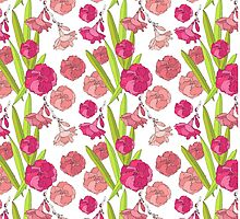 Elegance pattern with floral background by lisenok