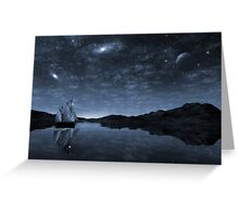 Beneath a jewelled sky Greeting Card