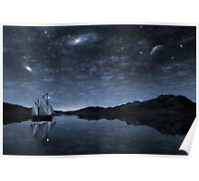 Beneath a jewelled sky Poster