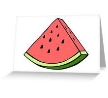 I Like Watermelons Greeting Card