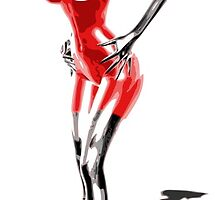 Latex Red by whiteflash