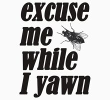 Excuse me while I yawn by redcow