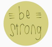 Be Strong (Yellow) Kids Clothes