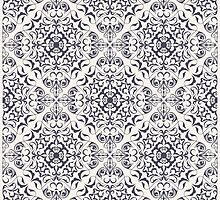 Ornate floral pale pattern by JeraRS
