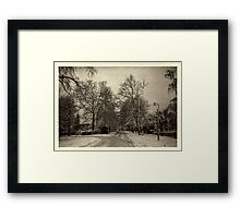 It Snowed that Day Framed Print