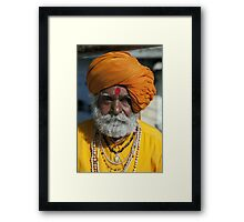 One Eyed Holy Man Framed Print