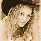 Young cowgirl portrait by GWGantt
