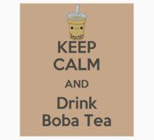 Keep Calm and Drink Boba Tea Kids Clothes