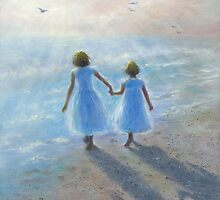 IMAGINE TWO BEACH SISTERS by VickieWade