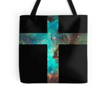 Green Galaxy Cross Tote Bag