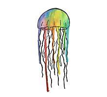 Watercolor Jellyfish Design Photographic Print