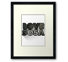 Love Sosa Framed Print