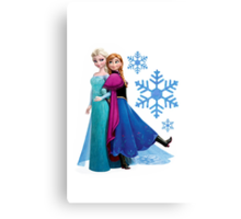 Frozen - Elsa and Anna Design Canvas Print