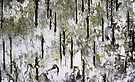 """""""Rebirth of a Forest"""" Abstract On Bark by Laurie Minor"""