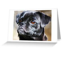 """Pug Mug"" Greeting Card"