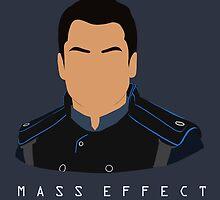 Mass Effect Kaidan Alenko Minimalist by quidvis