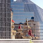 Luxor Hotel & Casino with Excalibur Reflections - Las Vegas, Nevada by Buckwhite