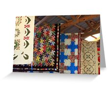 Quilts At the County Fair Greeting Card