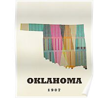oklahoma state map Poster