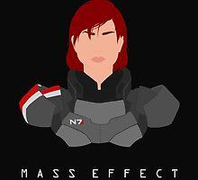 Mass Effect FemShep Minimalist by quidvis