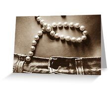 Buttons and Pearls in Sepia Greeting Card