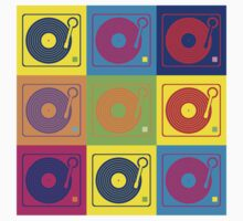 Vinyl Record Turntable Pop Art 2 by retrorebirth