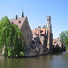 Rozenhoedkaai, Bruges by Elena Skvortsova