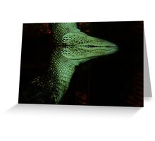 Gator Abstract Greeting Card