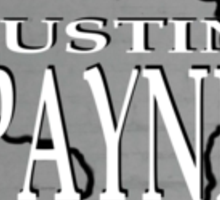 Justin Payne album art Sticker