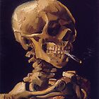 Vincent Van Gogh's 'Skull with a Burning Cigarette'  by Roz Barron Abellera