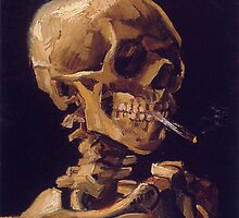 Vincent Van Gogh's 'Skull with a Burning Cigarette'  by Roz Abellera Art