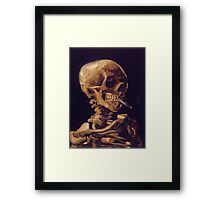 Vincent Van Gogh's 'Skull with a Burning Cigarette'  Framed Print