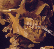 Vincent Van Gogh's 'Skull with a Burning Cigarette'  Sticker