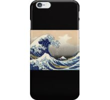 'The Great Wave Off Kanagawa' by Katsushika Hokusai (Reproduction) iPhone Case/Skin