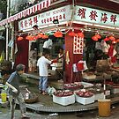 Street market Hong Kong by Maggie Hegarty