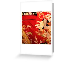 The red kimono 2 Greeting Card