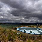 Blue, blue boat - Bruny Island, Tasmania by clickedbynic