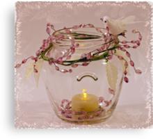 Beaded Candle Jar Canvas Print