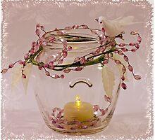 Beaded Candle Jar Photographic Print