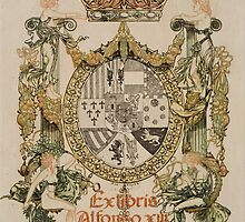 'Book Plate of Alphons XIII' by Alexandre de Riquer (Reproduction) by Roz Barron Abellera